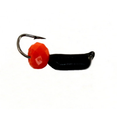 Морм.Ø2 Ст-к Черн + Шар Гранен Красный Ø4мм 0,4гр арт.20828 (упак.12шт)