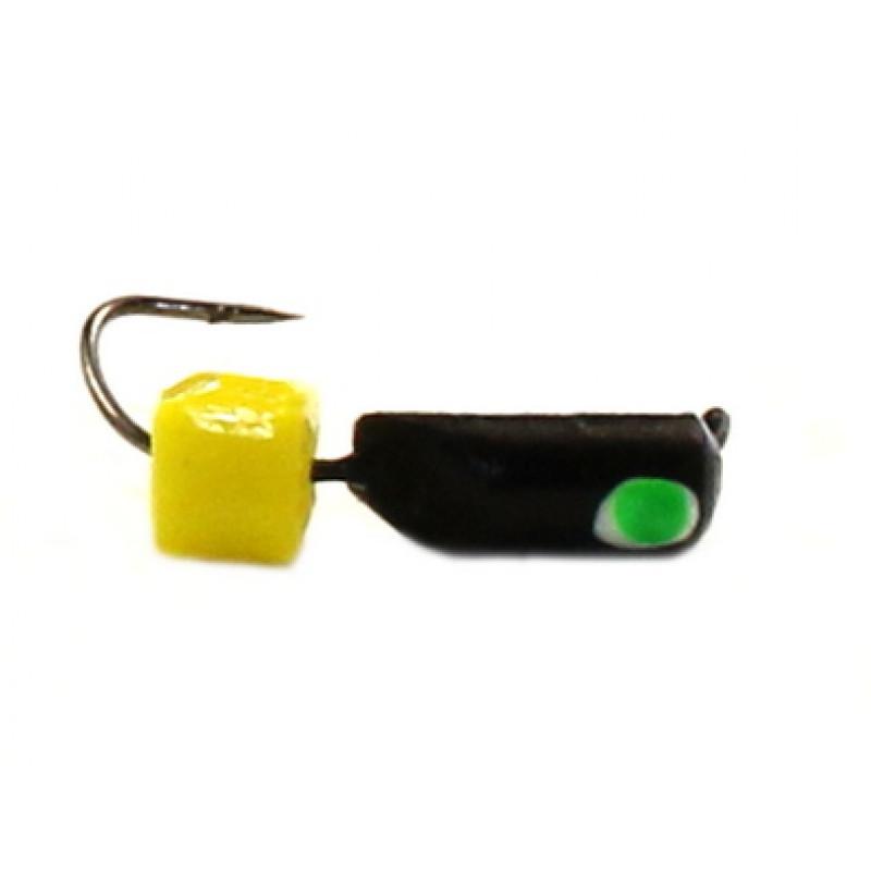 Морм.Ø2,5 Ст-к Черн, Зелен Глаз + Куб Гранен Сырный 3*3мм 0,6гр арт.25841 (упак.12шт)