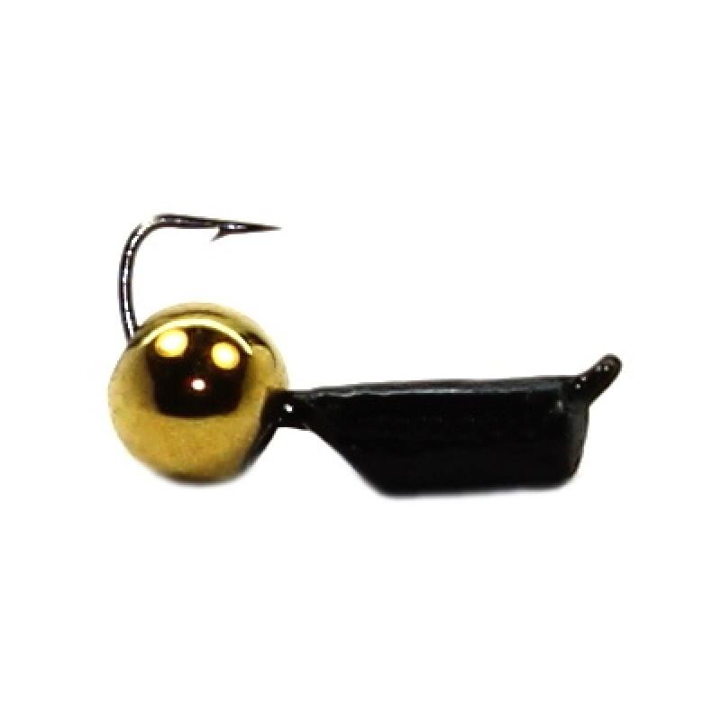 Морм.Ø2,5 Ст-к Черн, Белый Глаз + Шар Латунь Ø4мм 0,7гр арт.25806 (упак.12шт)