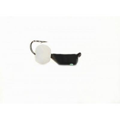 Морм.Ø2,5 Ст-к Черн, Лайм Глаз + Шар Белый Ø5мм 0,6гр арт.25867 (упак.12шт)