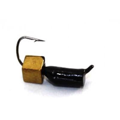 Морм.Ø2,5 Ст-к Черн + Куб Гематит Золото 3*3мм 0,7гр арт.25100 (упак.12шт)