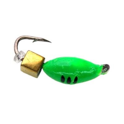 Морм.Ø3 Нимфа Зелен, Черные Полоски + Куб Золото 3*3мм 0,7гр арт.30018 (упак.12шт)
