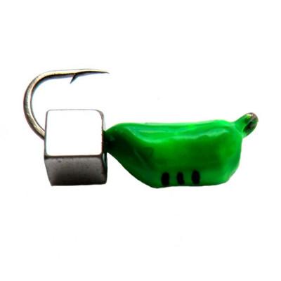 Морм.Ø3 Ст-к Зелен, Черн Полоск + Куб Серебро 3*3мм 0,9гр арт.30250 (упак.12шт)