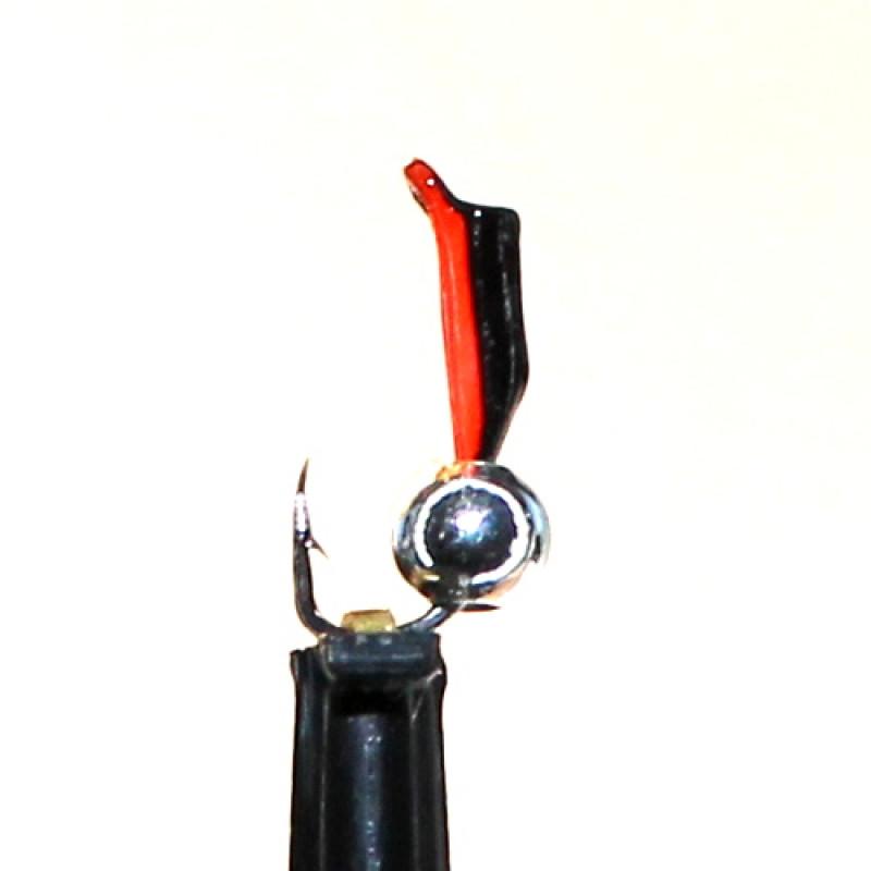 Морм.Ø 1,5 Микроб Черный, Красн Брюшко + Шар Серебро, 0,16гр арт.15005 (упак.12 шт)