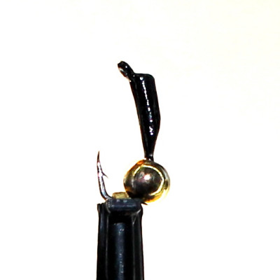 Морм.Ø 1,5 Микроб Черный + Шар Золото, 0,16гр арт.15006 (упак.12 шт)