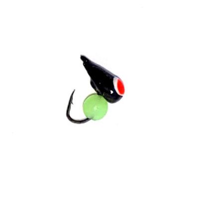 Морм.Ø3 Хрень Черная, Красн Глаз + Шар Зеленый  0,4гр арт.32011 (упак.12шт)