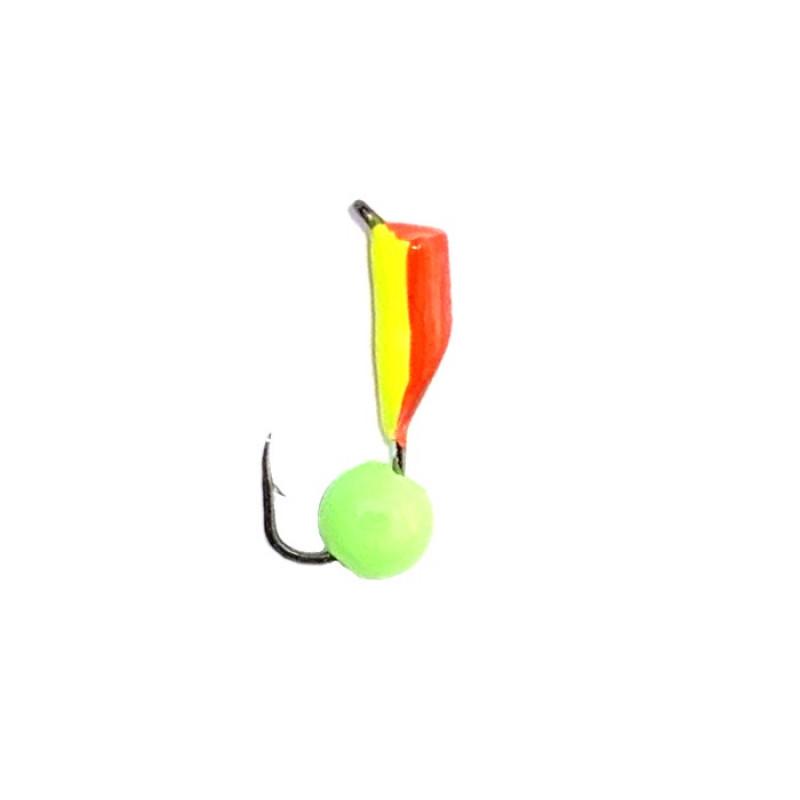 Морм.Ø2,5 Ст-к Красн, Лайм Брюшко + Шар Зеленый  0,55гр арт.25638 (упак.12шт)