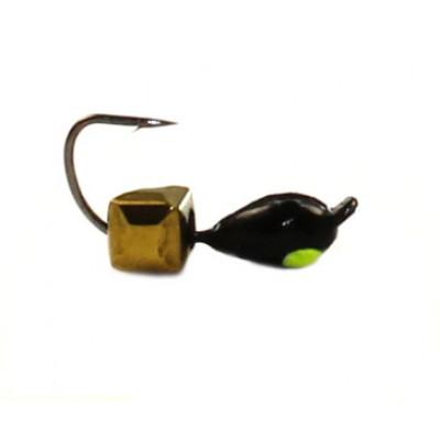Морм.Ø3 Капля, Лайм Глаз + Куб Гранен Гематит Золото 2*2мм 0,4гр арт.30784 (упак.12шт)
