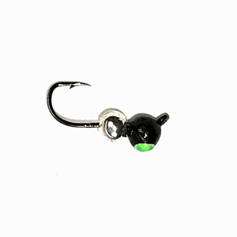Морм.Ø 4 Дробь Черн, Зеленый Глаз + Шар Серебро 0,70гр арт.46500 (упак.12 шт)