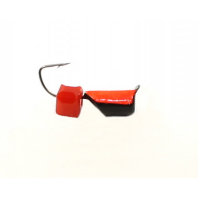 Морм.Ø4 Ст-к Черн, Красн Брюшко + Куб Гранен Красный 4*4мм 1,7гр арт.40287 (упак.12шт)