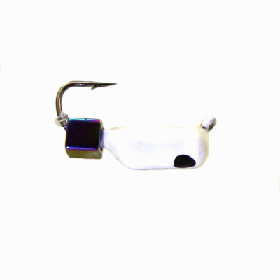 Морм.Ø2,5 Ст-к Белый, Черн Глаз + Куб Гематит Хамелеон Ø4мм 0,7гр арт.25444 (упак.12шт)