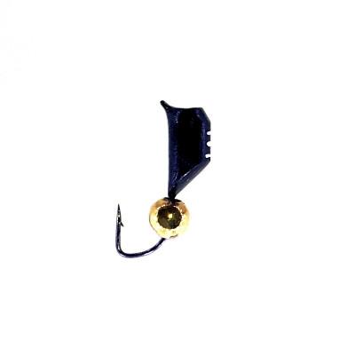 Морм.Ø4 Ст-к Черн, Белые Полоски + Шар Гематит Золото 4мм 1,78гр арт.40292 (упак.12шт)
