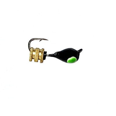 Морм.Ø3 Капля, Зелен Глаз + Тетро Куб  Золото 2*2мм 0,4гр арт.30797 (упак.12шт)